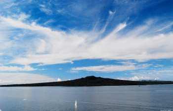 Sky line over Rangitoto