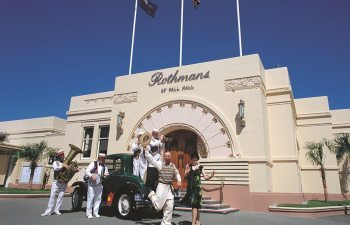people enjoying Napier Art Deco Weekender