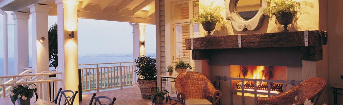 Veranda-fireplace