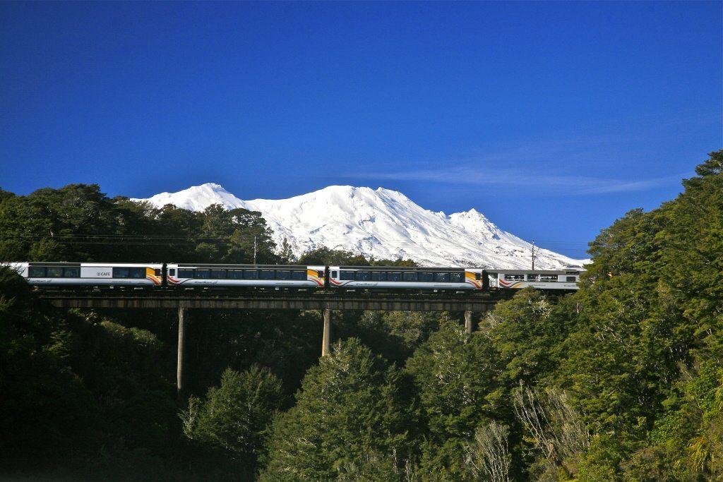 Tranz Scenic - Northern Explorer with Mt Ruapehu