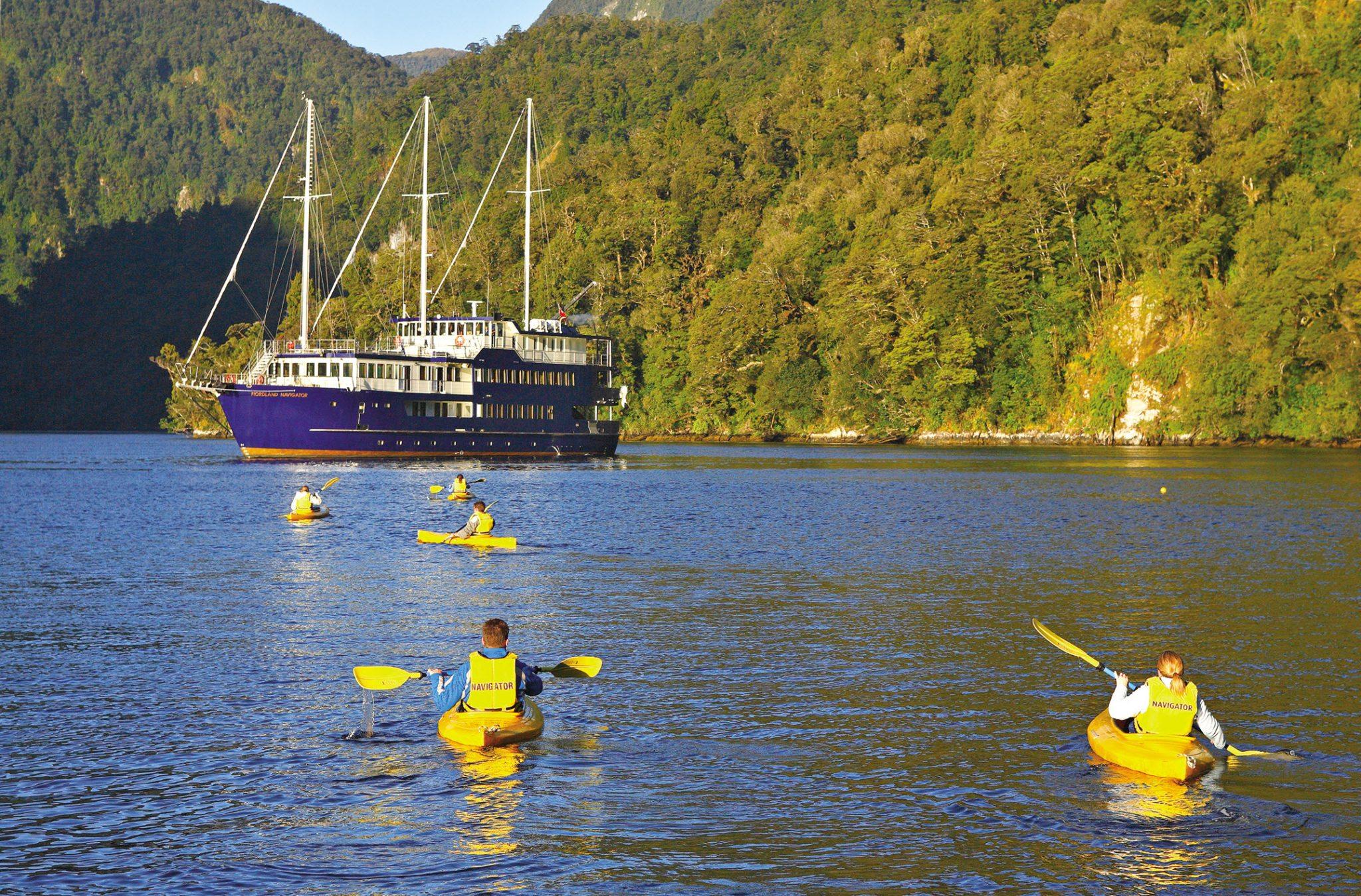 Kayaking on the Doubtful Sound