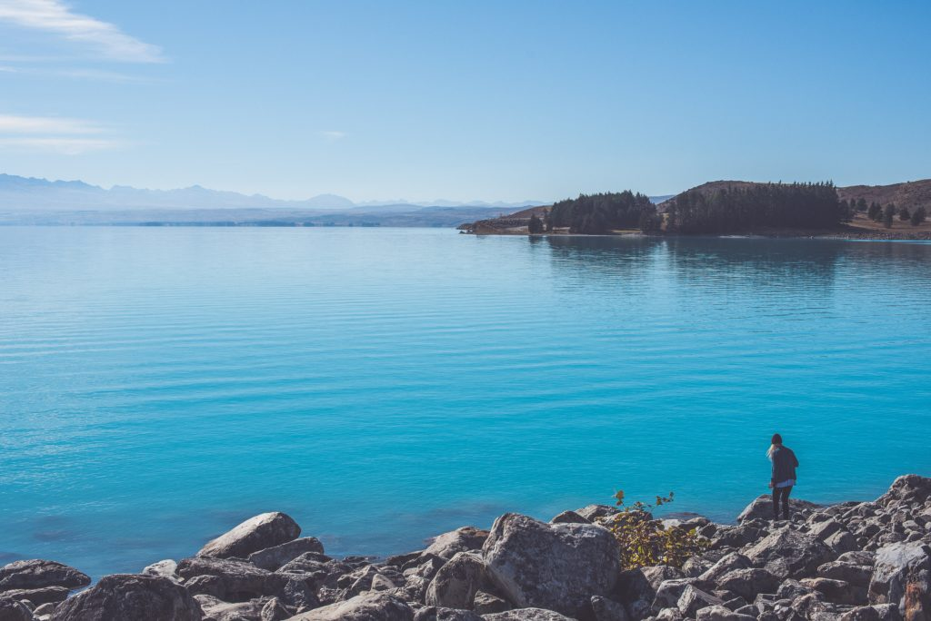 Lake Pukaki, next to Mt. Cook