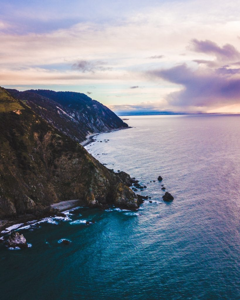 Dusk photograph of Cable Bay, New Zealand, by Rich Hay