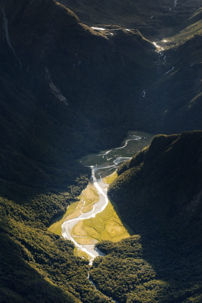 mountainous routeburn track